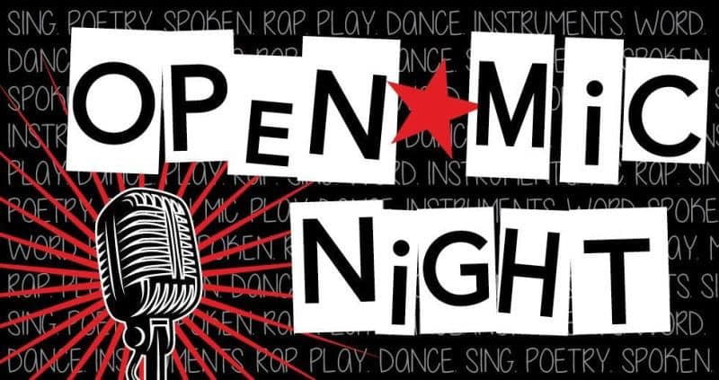 Open Mic night first Friday of every month
