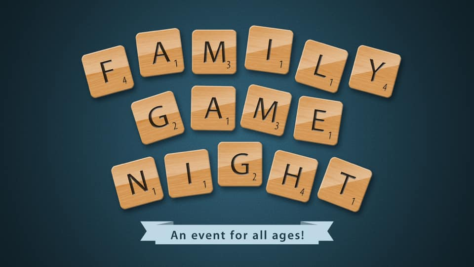 Family Game (last Friday of every month) from 1800-2000