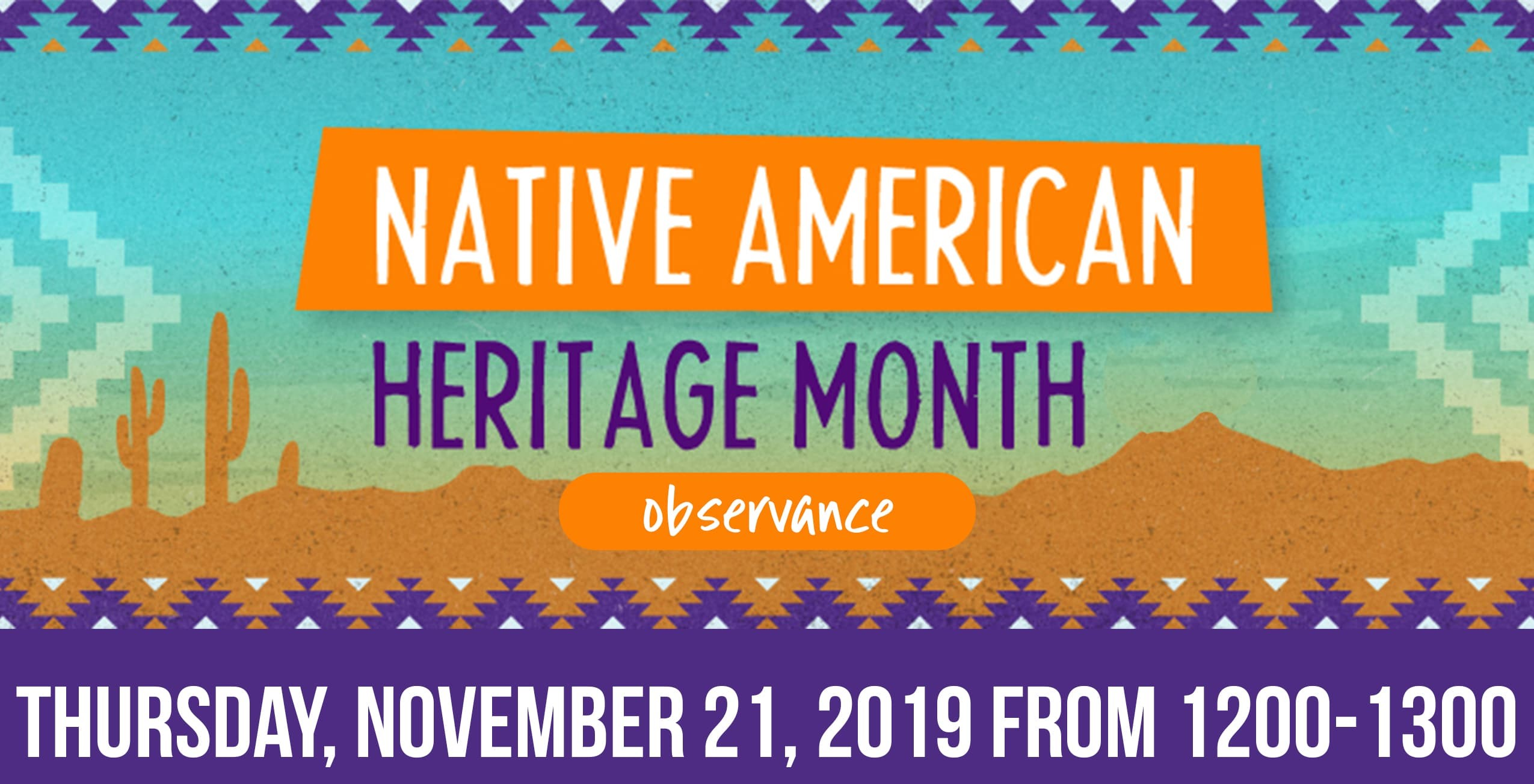 Native American Observance Month Luncheon